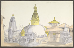 The stupa at Svayambhunath